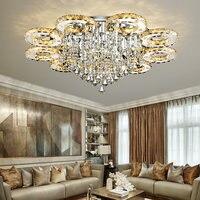 Современные светодио дный светодиодные Хрустальные потолочные светильники для гостиной luminaria teto хрустальный потолок лампы украшения дома