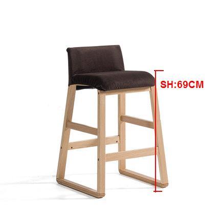 Solid wood Nordic bar stool Modern minimalist front sofa bar stool high chair