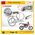 Shineray 250cc X2 x2x motocicleta engine piston ring set partes de tierra accesorios bike envío gratis