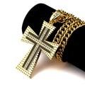 Mujeres de los hombres de Cadena de aleación De Encanto bling colgantes grandes Dios Bendición Oro Jesús Cruz largo Collar fornido de La Joyería de Hip Hop