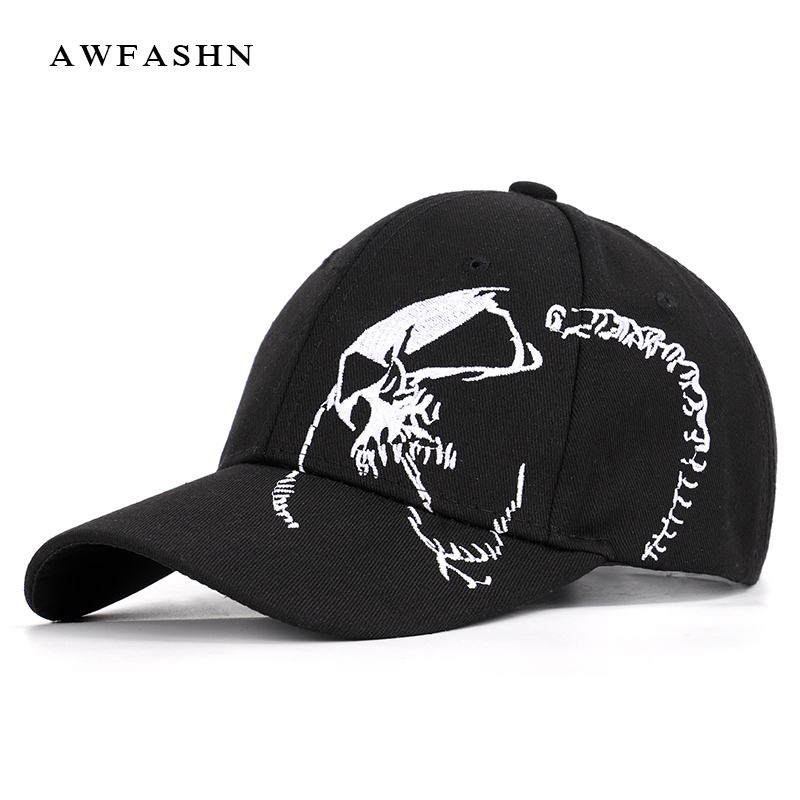 2019 New Fashion Baseball Cap Skull Embroidery hip hop hat Adult Hats Cotton Sport Trucker Black High Quality Man Woman Bone