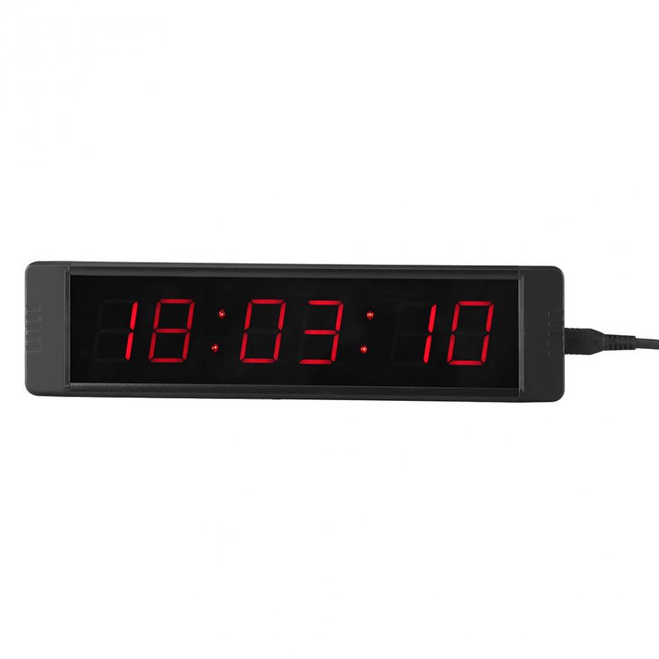Programmable LED Remote Wall Clock Prcise Timer Stopwatch Clock Memory Function Clock Living Room Decoration