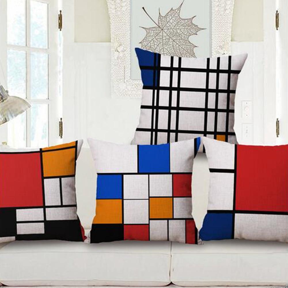 2016 Scandinavian minimalist geometric paintings as pillowcases furniture sofa cushions home decoration pillowcases 45 * 45cm cu