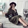 [XITAO] 2016 зима женщины свободные свитера Корея мода женский пуловер О-Образным Вырезом блестками длинным рукавом вязание твердые свитер HHY003