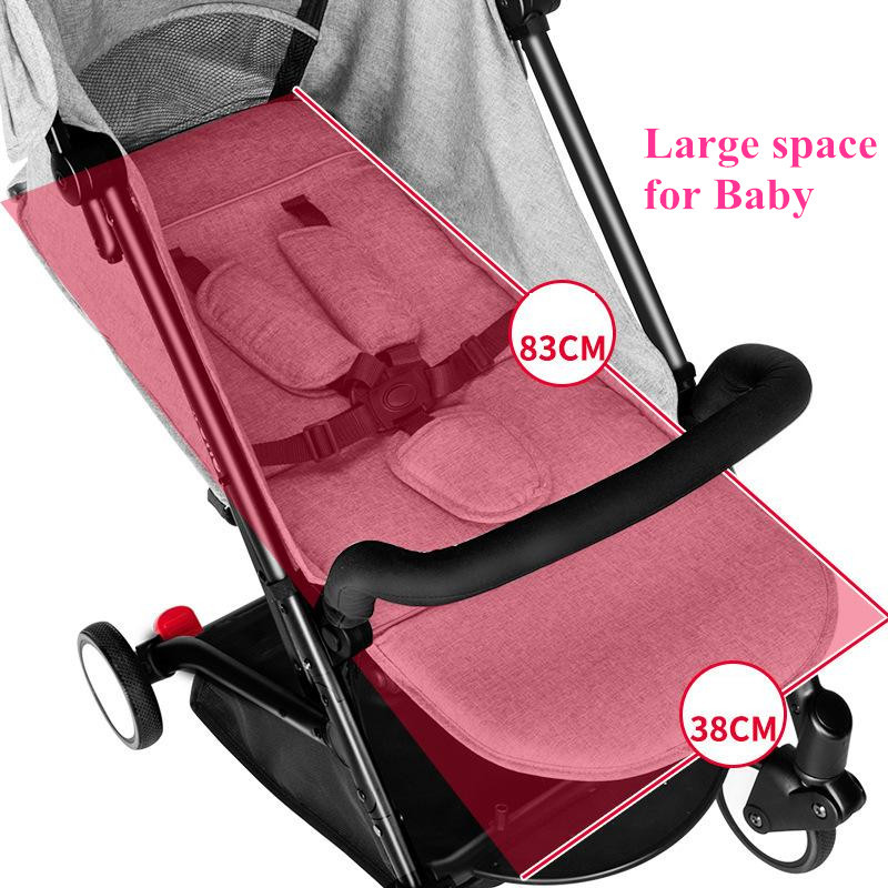 2017 Brand New 4 in 1 Newbore Umbrella Pram Lightest Portable Baby Strollers Four Wheels Anti-Shock One Key Folding Cart10