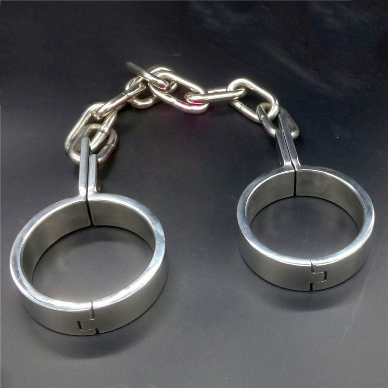 Hot Fashion Stainless Steel Shackles Leg Irons Metal -3270