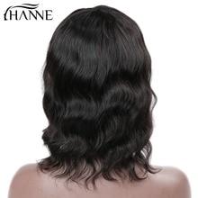 HANNE Włosy Krótkie Dziewicze Ludzkie Włosy Peruki Z Grzywką dla Czarnych Kobiet Natural Weave Peruki 100% Brazylijski Tanie Dziewiczy Ludzkie włosy 1b #