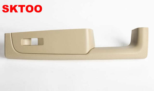 For Skoda Superb door handle, front right door armrest box, passenger side inner handle frame, the lifter switch box Beige
