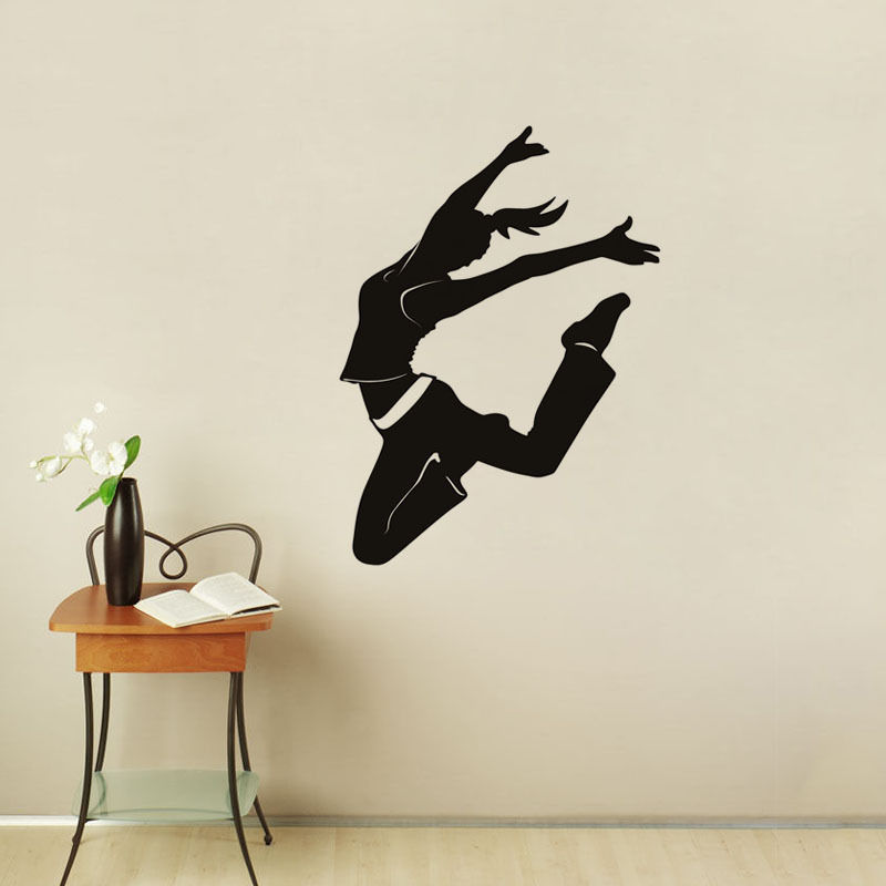 Dance Studio Wall Decors Dancer Wall Stickers Sport Wall Decals Dancing  Room(China (Mainland