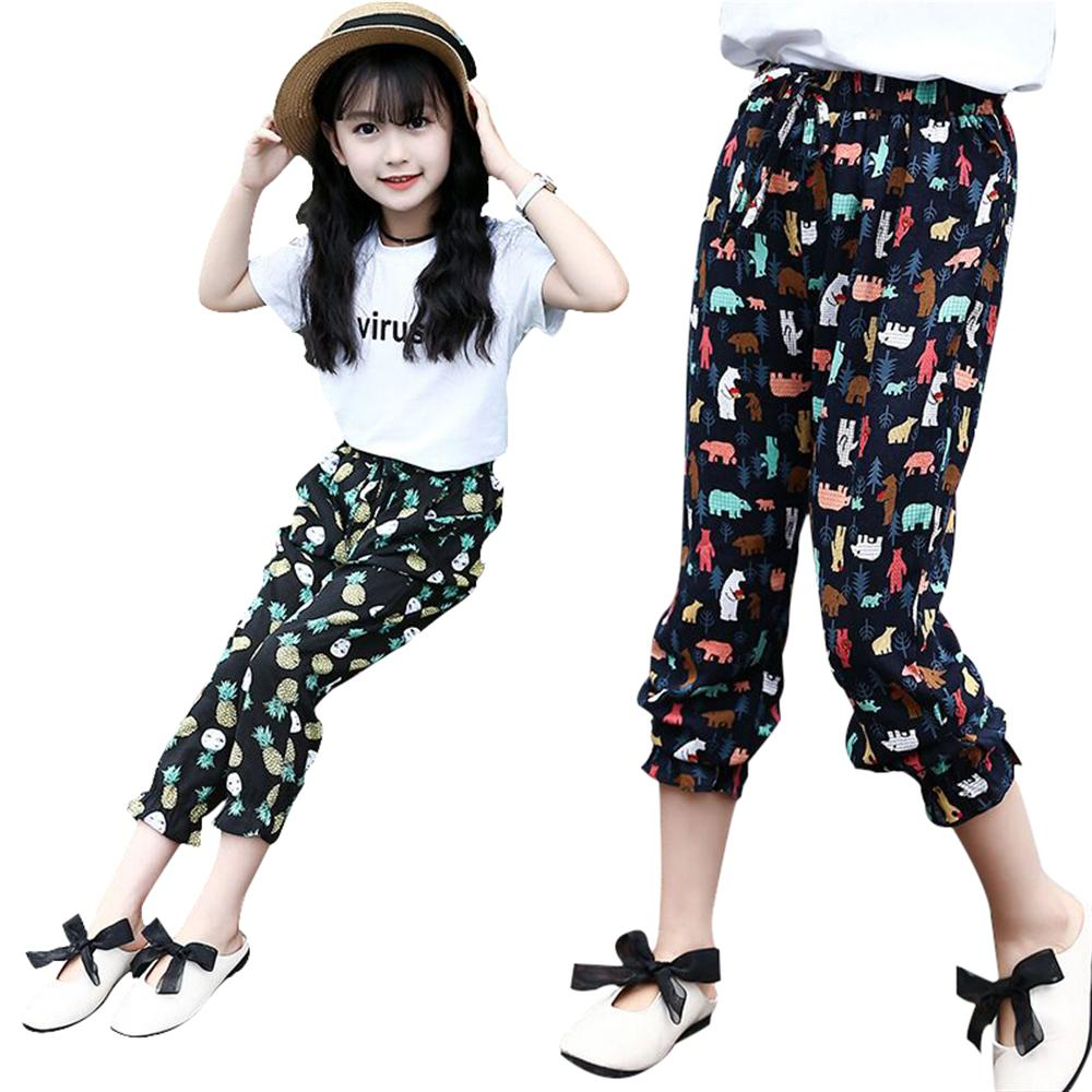 Kids Pants Girls Trousers Toddlers Summer Baggy Pants Bottoms Trousers