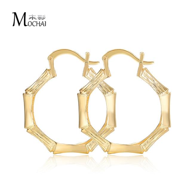 1e0cc3e8c217d US $1.77 20% OFF|Gold Color Woman hoop earrings Minimalist Skinny earring  Female Bamboo Shape Earrings Jewelry wholesale zk20 30mm-in Hoop Earrings  ...