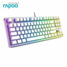 Оригинал rapoo v500 rgb игра клавиатура полный ключи программируемый 2.0 мм триггер ход mx pro механическую игровую клавиатуру