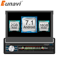 Eunavi 2GB 16GB Android 6 0 Universal Single 1 DIN 7 Car Radio Stereo Quad Core