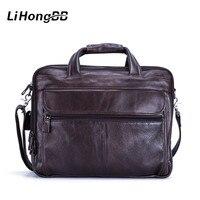High Quality Handbag Cowhide Genuine Leather Bags Mens Messenger Shoulder Bag Crossbody Men S Laptop Briefcase