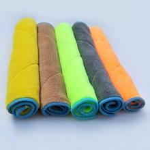Популярное полотенце для мытья автомобиля, утолщенное Впитывающее ворс, мягкое двухстороннее Двухслойное Коралловое бархатное полотенце для чистки автомобиля 25*25 см