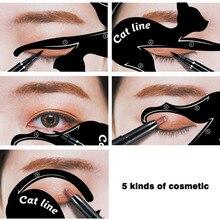 hot deal buy 2 pcs/set fashionable women cat line eye makeup eyeliner unique stencils templates makeup tools kits for eyes eyeliner tools