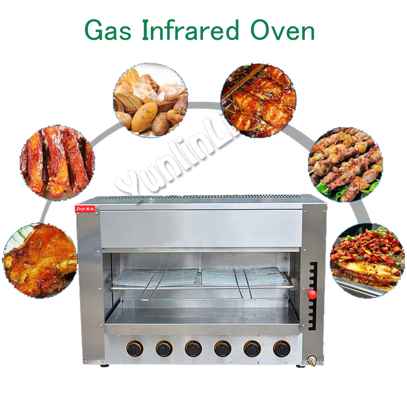 Large Capacity Chicken Roasters Pizza/ Meat Oven Gas Infrared Oven Commericla/ Household Oven FY-16.R garcinia as preservative of chicken meat