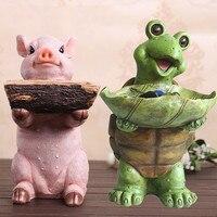 Buldogue francês Dog Porco Estátua de Gato Caixa de Armazenamento De Animais Resina Artesanato Decoração de Mesa de Escritório R45|Estátuas e esculturas| |  -