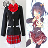 Anime Tall Pear Rikka Cosplay Girls Fashion Costume Halloween Party School Uniform Size S XL