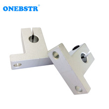 2Pcs lot Vertical SK8 Optical Axis Bracket 3D Printer Accessories Linear Guides Bearing Seat Support Frame