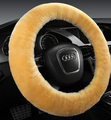 Winter pure wool car steering wheel cover thermal one piece plush fur wool car cover female