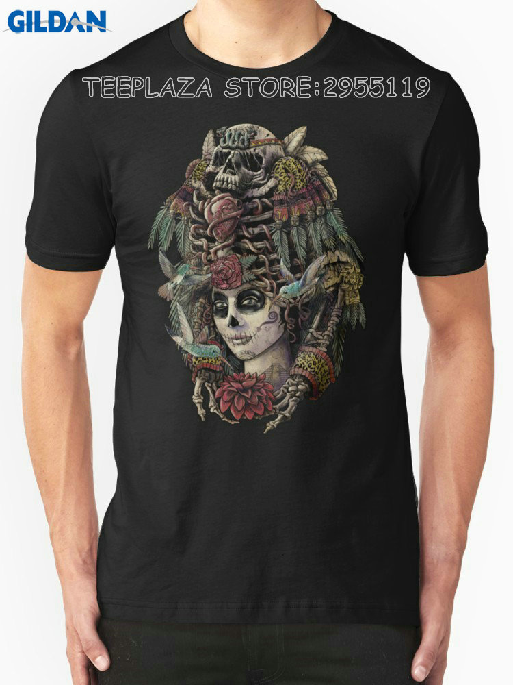 Teeplaza T Shirt Design Shop Day Of The Dead (Ancient Guardians) O-Neck Men Short Funny T Shirt