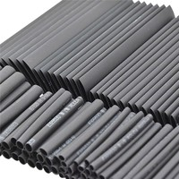 127pc Black Heat Shrink Tube Assortment Wrap Electrical Insulation Cable Tubing [category]