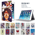 Protective Case for iPad Air 1/2 Art Painting PU Leather with Built-in Magnet Features Auto Wakeup/Sleep Function All-New