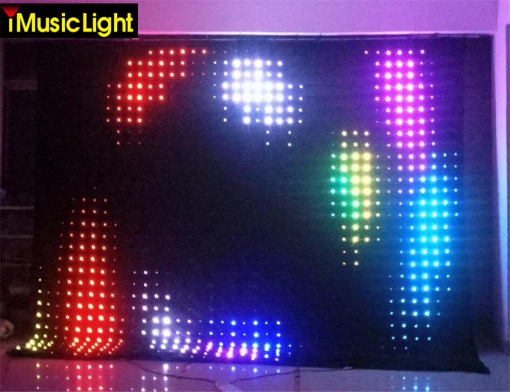 Lights & Lighting Commercial Lighting Free Shipping P18 3m*3m Led Vision Curtain Tricolor Rgb 3in1 Led Video Curtain 30 Kinds Patterns Play Dj Equipment Strong Packing