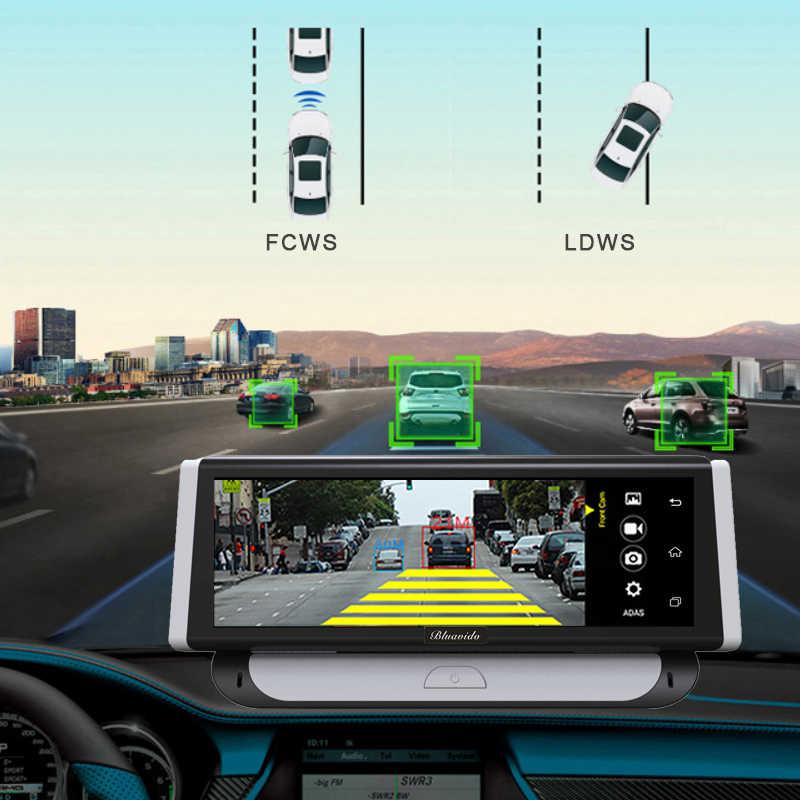 """Bluavido 8 """"IPS 4G Android coche DVR GPS Cámara ADAS Sygic navegación Full HD 1080P grabadora de vídeo de coche Dual de la lente Monitor de aparcamiento"""