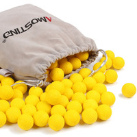 AMOSTING Rival Bullets Refill Darts Pack 100 Round Ammo Balls For Nerf Rival Blasters Gun Yellow
