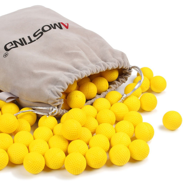 AMOSTING Rival Bullets Refill Darts Pack 100 Round Ammo Balls for Nerf Rival  Blasters Gun-