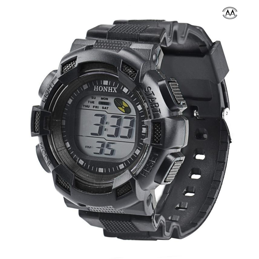 лучшая цена Men Fashion LED Digital Alarm Date Rubber Army Watch Waterproof Sport Wristwatch Male Sport Watch Digital Watch Relogio Digital