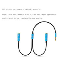 3.5mm Mic + Headphone Splitter Audio Cable 3.5 mm for Computer Microphone Cellphone