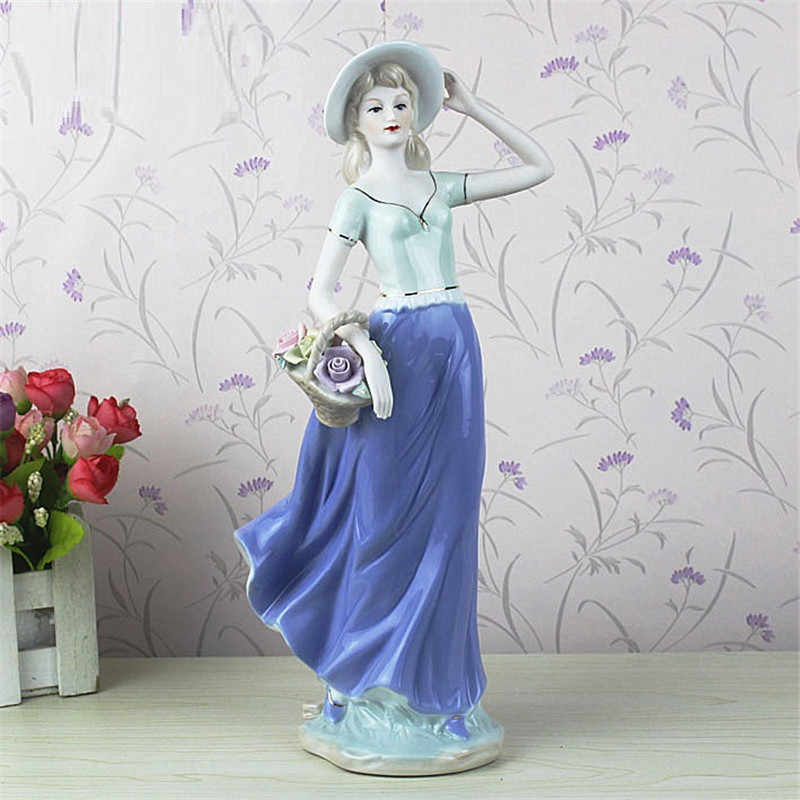 Elegant Ceramic Goddess Lady Figurines Crafts Western Women Wedding Handicraft Ornament Porcelain Statue Home Decor R769