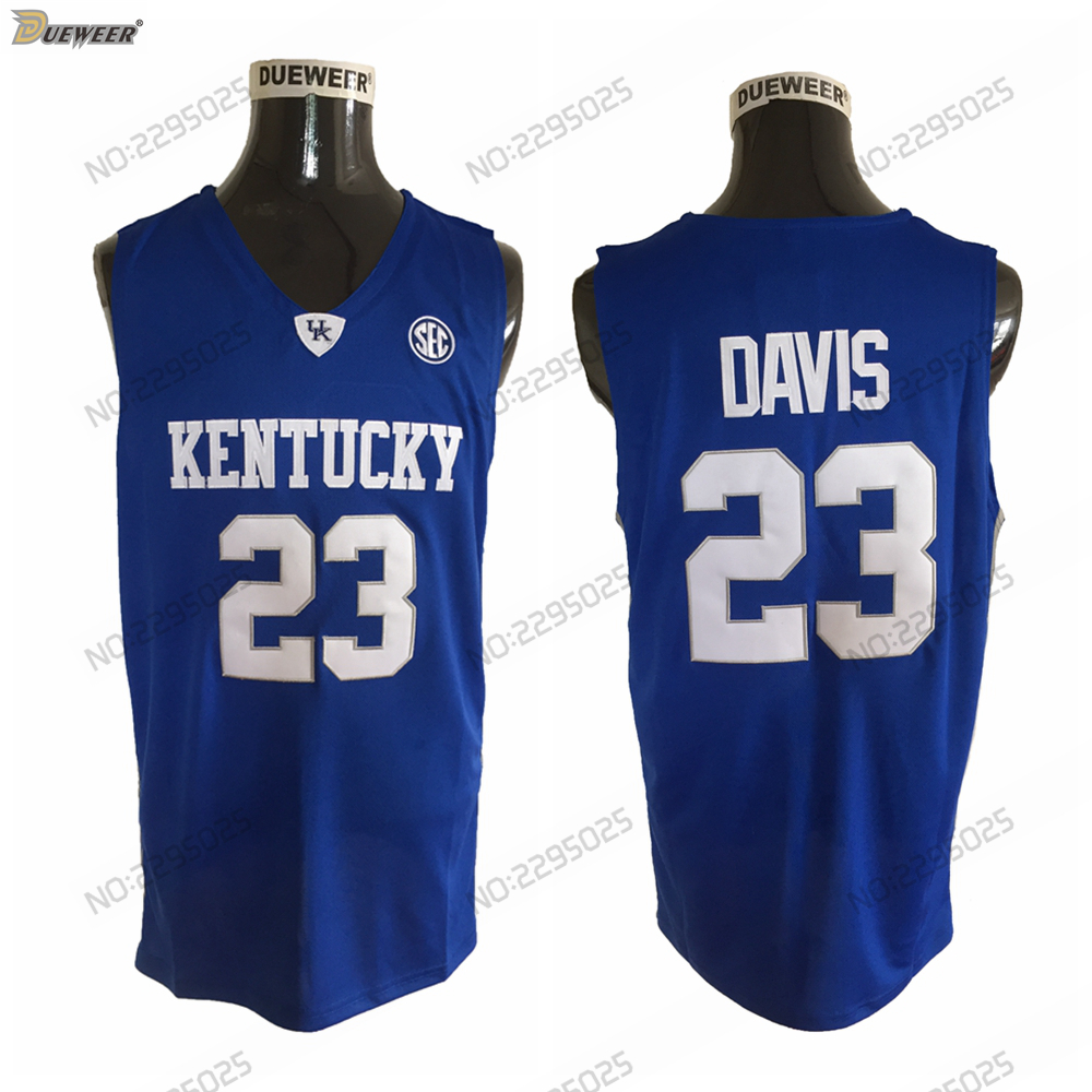 2a18f12345e ... coupon for dueweer mens new 2018 anthony davis kentucky wildcats  basketball jersey cheap 23 anthony davis