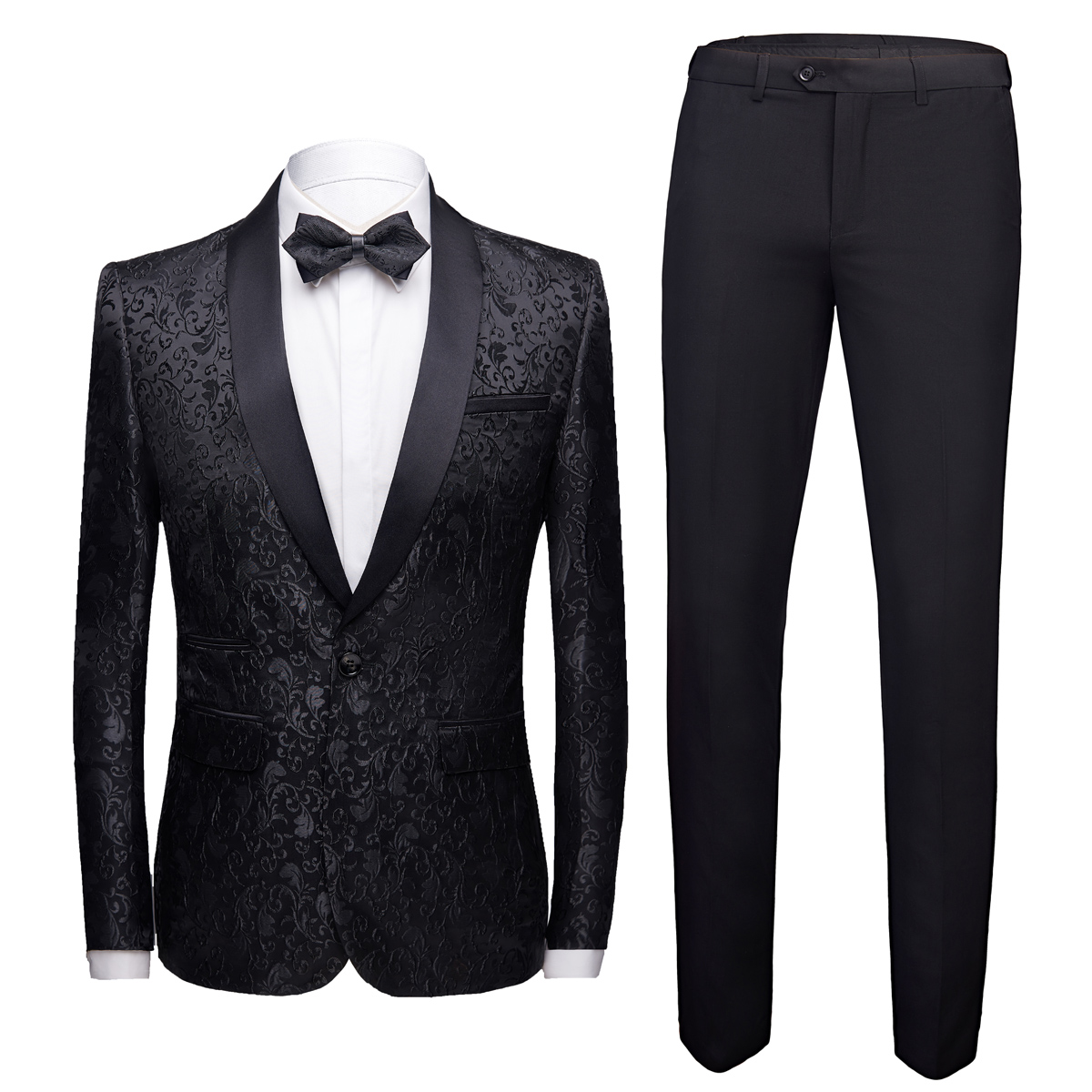 2020 New Mens Suit 2 Piece Set Slim Design Suit Blazer Jacket + Pants  Wedding Banquet Tuxedo Suit Autumn Terno Masculino