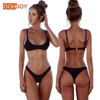 2018 New Solid Color Micro Bikini Set Women Swimsuit S 2XL Sexy Thong Bikini Low Waist Swimwear Bathing Suit Brazilian Tankini