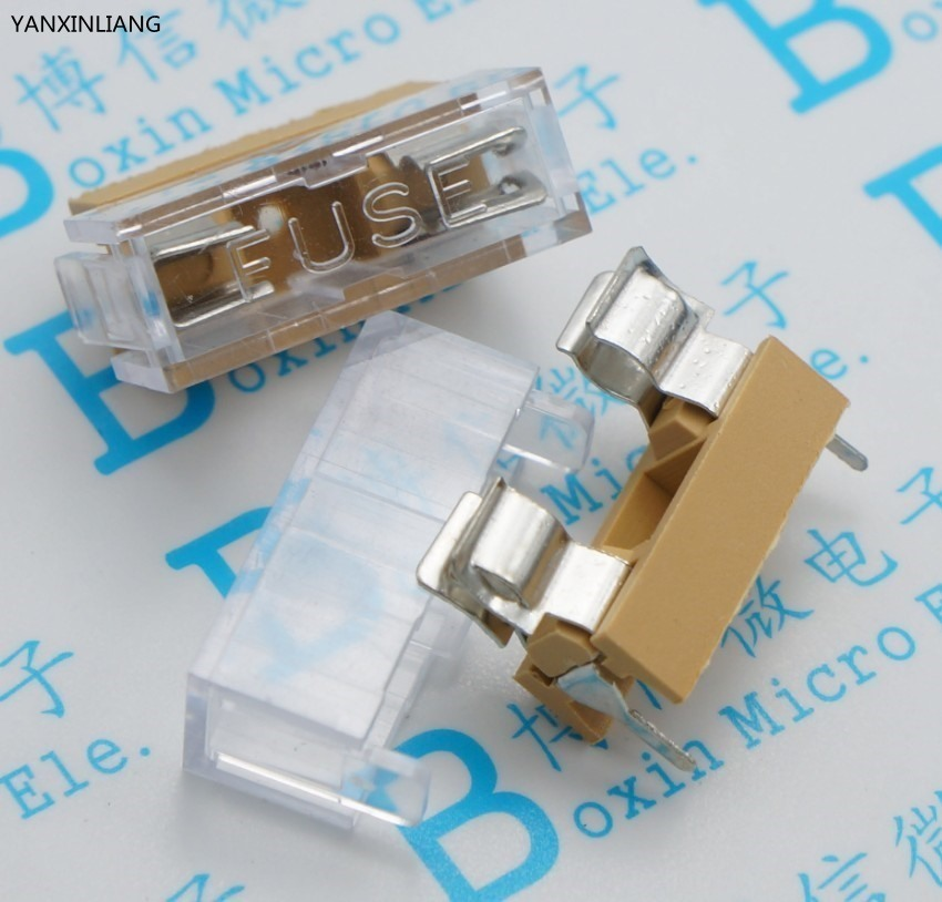 10Pcs 5*20MM / 5x20MM Fuse Holder With Transparent Cover