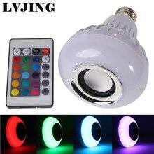 RGB LED de La Lámpara Inalámbrica Altavoz Bluetooth Bombilla E27 LED de Iluminación con Control Remoto de Reproducción de Música
