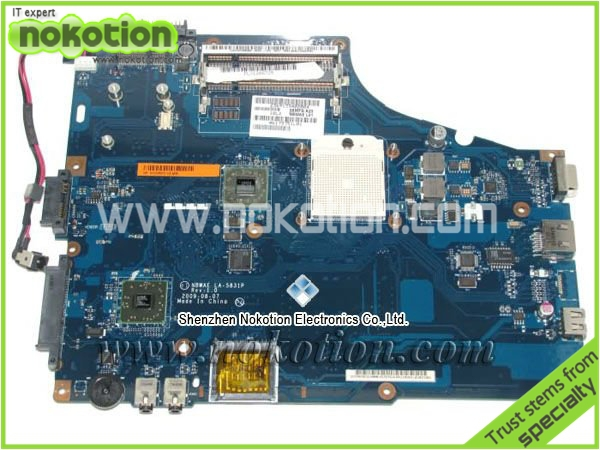 NOKOTION for Toshiba L450D L455D Laptop Motherboard LA-5831P K000085470 Mainboard free shipping