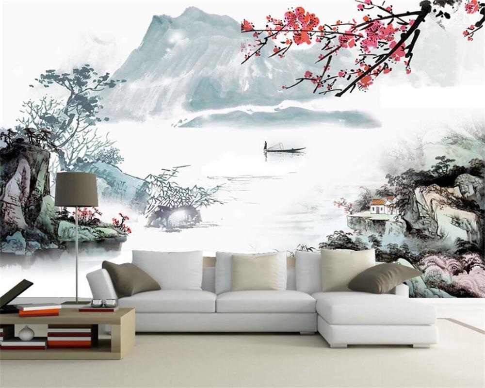 Beibehang Custom Modern Living Room Sofa Landscape Abstract Landscape Painting Background Wall Wallpaper For Walls 3 D Tapeten