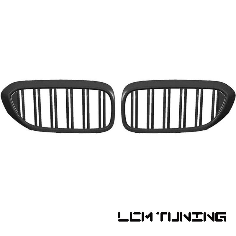 For BMW 5 Series G30 2019-ON Double Slats Gloss black/Matt black/Black+Chrome Front Grille