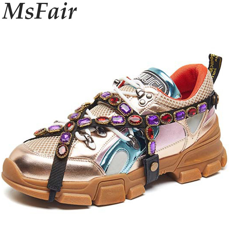MSFAIR Women Running Shoes Summer Breathable Mesh Sport Shoes For Women Outdoor Athletic Run Woman Brand Walking Womens Sneakers