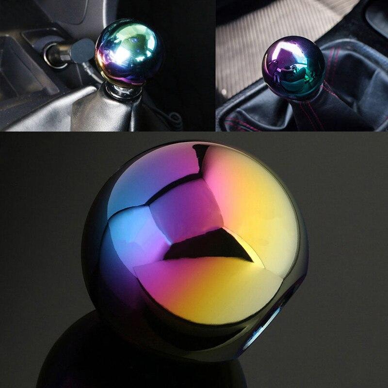Neo Chrome Manual Round Shift Knob Universal Fit for Honda Fit for Mazda Fit for Nissan Fit for Toyota shift lever 9
