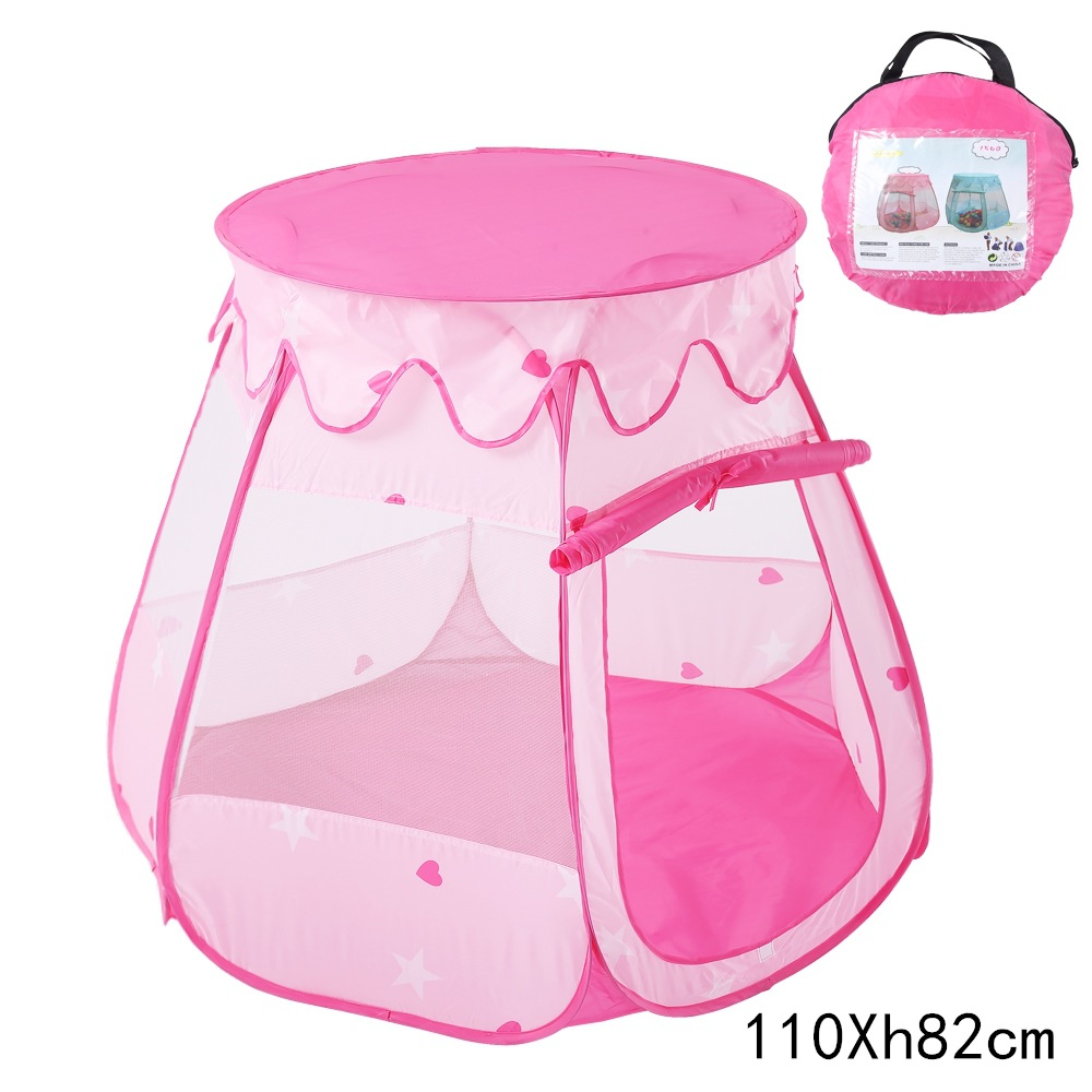 Tente hexagonale intérieure extérieure de gaze pour des enfants jouant la maison de jeu de Polyester bébé océan boule de piscine princesse pour des cadeaux d'enfants de filles