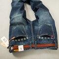 2016 Moda hombre Jeans Brand New sSlim Pant Ripped Apenada Del Motorista Denim Pantalones Para Hombre de Alta Calidad Diseñador Hots Jean
