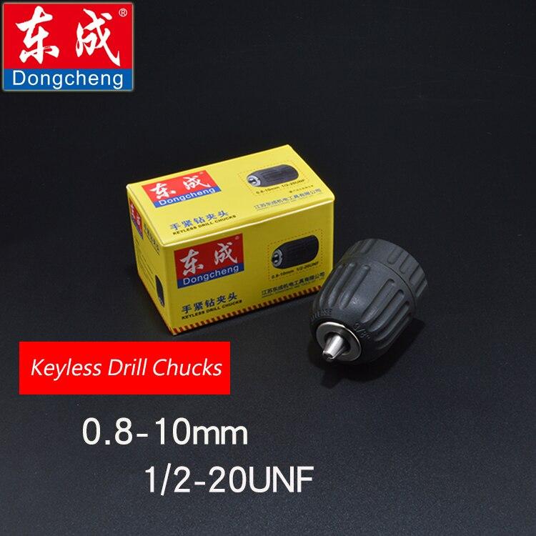 Sans clé Mandrin 10mm En Plastique Mandrin Pour Perceuse Électrique, Max. Capacité 0.8-10mm, alésage Diamètre 1/2, 20UNF Fil