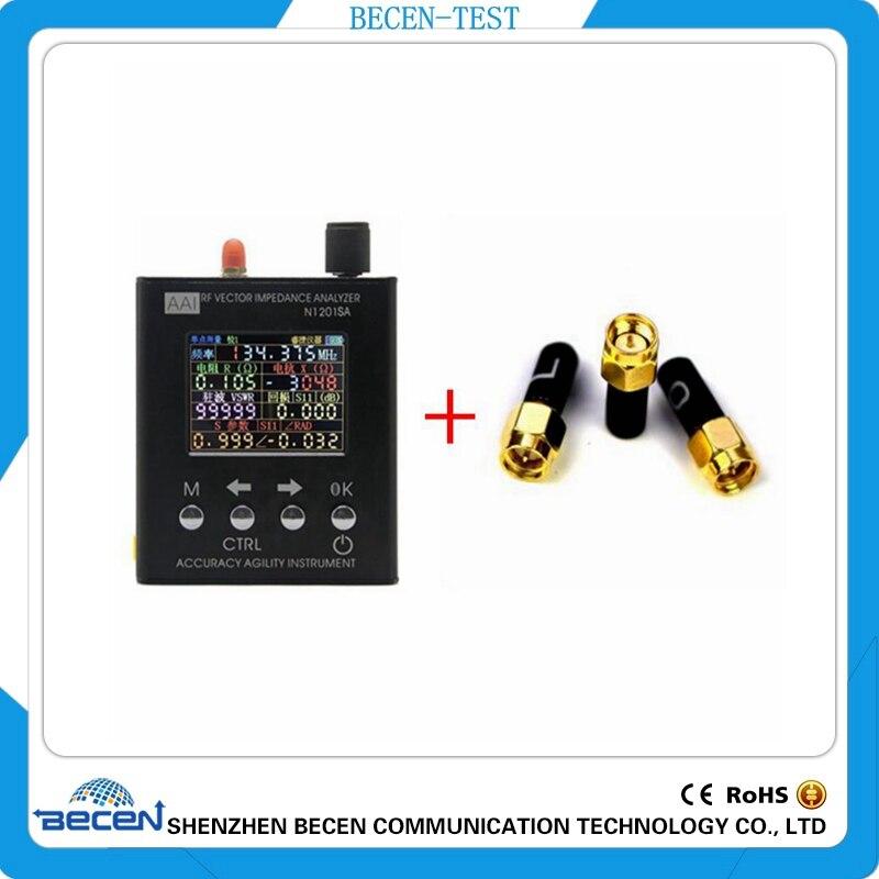 Anglais verison N1201SA 140 mhz-2.7 ghz UV RF ANT SWR Antenne Analyzer Compteur Testeur 140 mhz-2.7 ghz + Mâle SMA d'étalonnage