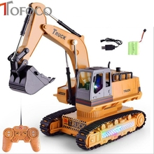 TOFOCO RC Excavator 2.4G Remote Control Constructing Truck Crawler Digger Model Electronic Engineering Toy gift for child